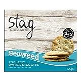 Stag Crackers de Agua con Algas Marinas - 6 Paquetes de 125 gr - Total: 750 gr