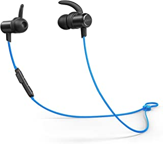 Bluetooth Headphones, Anker SoundBuds Slim Wireless Workout Headphones,10-Hour Playtime, Bluetooth 5.0, IPX7 Waterproof Magnetic Wireless Earbuds, Bluetooth Earbuds for Sports, Exercise, Running, Gym
