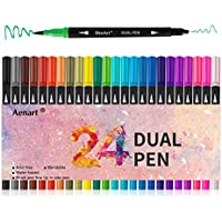 24-Count Aen Art Dual Tip Fine Point Art Marker Pens