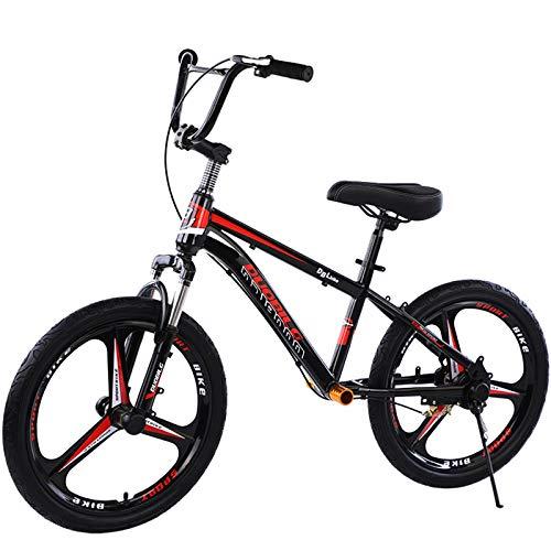 ZAQI Bicicleta sin Pedales Bici Bicicleta de Equilibrio para Adultos con Ruedas Grandes de 20 Pulgadas, Bicicleta con Manillar y Frenos Ajustables, Negro (Color : Red)