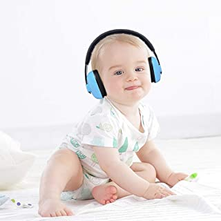 Baby Ear Earmuffs Infant Hearing Protection Newborn Headphones Safety Ear Muffs Noise Reduction Soft Padded Adjustable for Ages 0-3+ Years