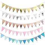 5 Pezzi Gagliardetti Compleanno Colore Decorazioni di Compleanno con Bandiera Triangolare Striscione Buon Compleanno Festone Laurea Striscione Congratulazioni per Partito All'aperto Giardino Festa
