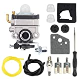 Buckbock 16100-ZM5-809 Carburetor Carb fit Honda GX22 GX31 FG100 4 Stroke Tiller HHE31C Edger HHT31S UMK431 UMK431K1 Trimmer/Brush Cutter with Tune Up Kits