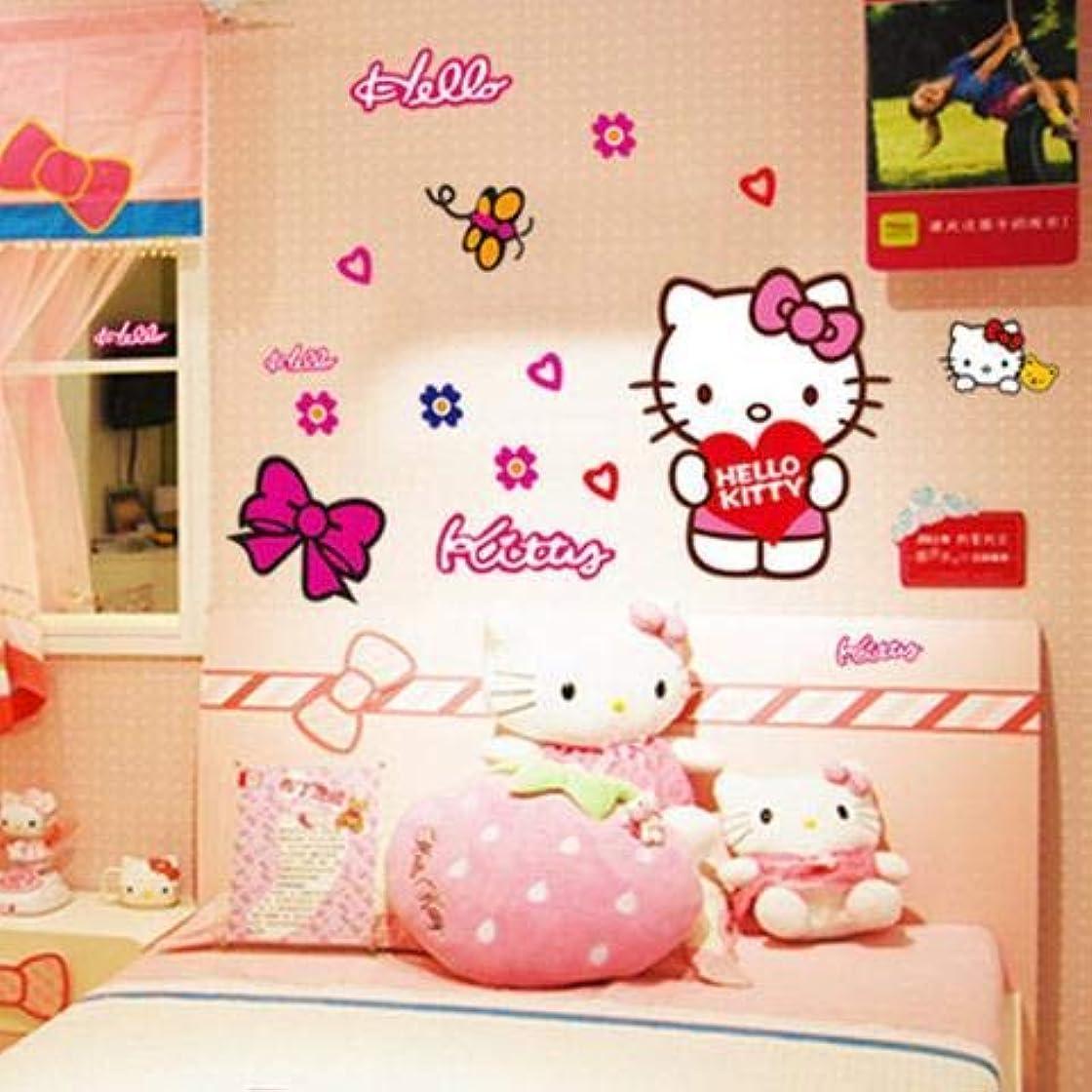 保守可能毛布有益なかわいい子供部屋のステッカーハローキティの壁のステッカーの寝室のベッドサイドの寮の壁の装飾