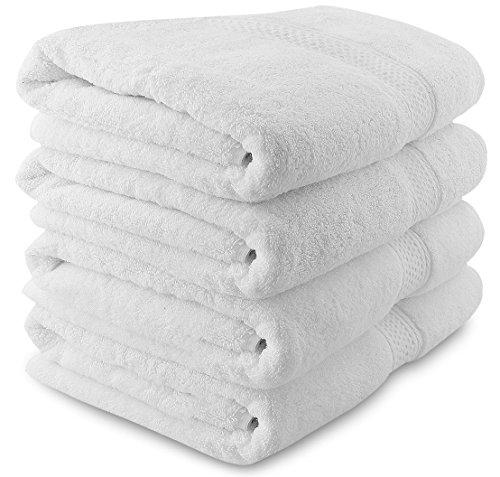 utopia luxury bath towels Utopia Towels Luxury Bath Towels, 4 Pack, 27x54 Inch, 700 GSM Hotel Towels, White