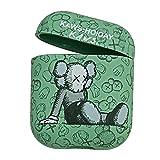 Mabende Frosted Print Schutzhülle für AirPods 2 und 1, Stoßfest & Kratzfest Graffiti Hard Hülle Cover Kompatibel mit AirPods,Unterstützt Wireless Charging AirPod Hülle (Grün)