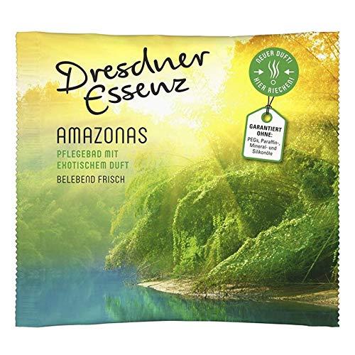 10er Pack Dresdner Essenz Pflegebad Badezusatz Badeessenz Amazonas Inhalt 10 x 60 g ph-hautneutral Badesalz Wellness belebend frisch & exotisch
