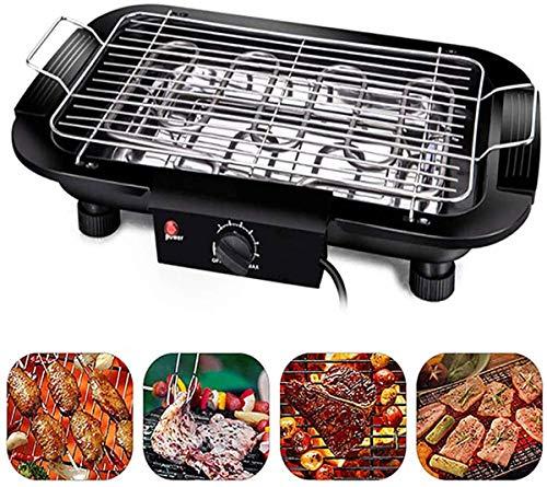 J & J Tragbare elektrische Barbecue Grill Smokeless BBQ Grillen Tisch Einstellbare Temperatur 2000W High Power Fit Startseite Abendessen Camping-Reisen Wandern