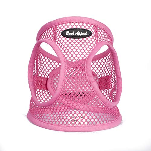 Bark Appeal Step in Netted Harness for Small Dogs (X-Small, Pink)