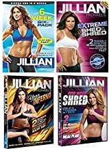 Jillian Michaels Fitness Collection: 6 Week Six Pack/One Week Shred/Extreme Shed & Shred/Yoga Inferno (4-Pack)