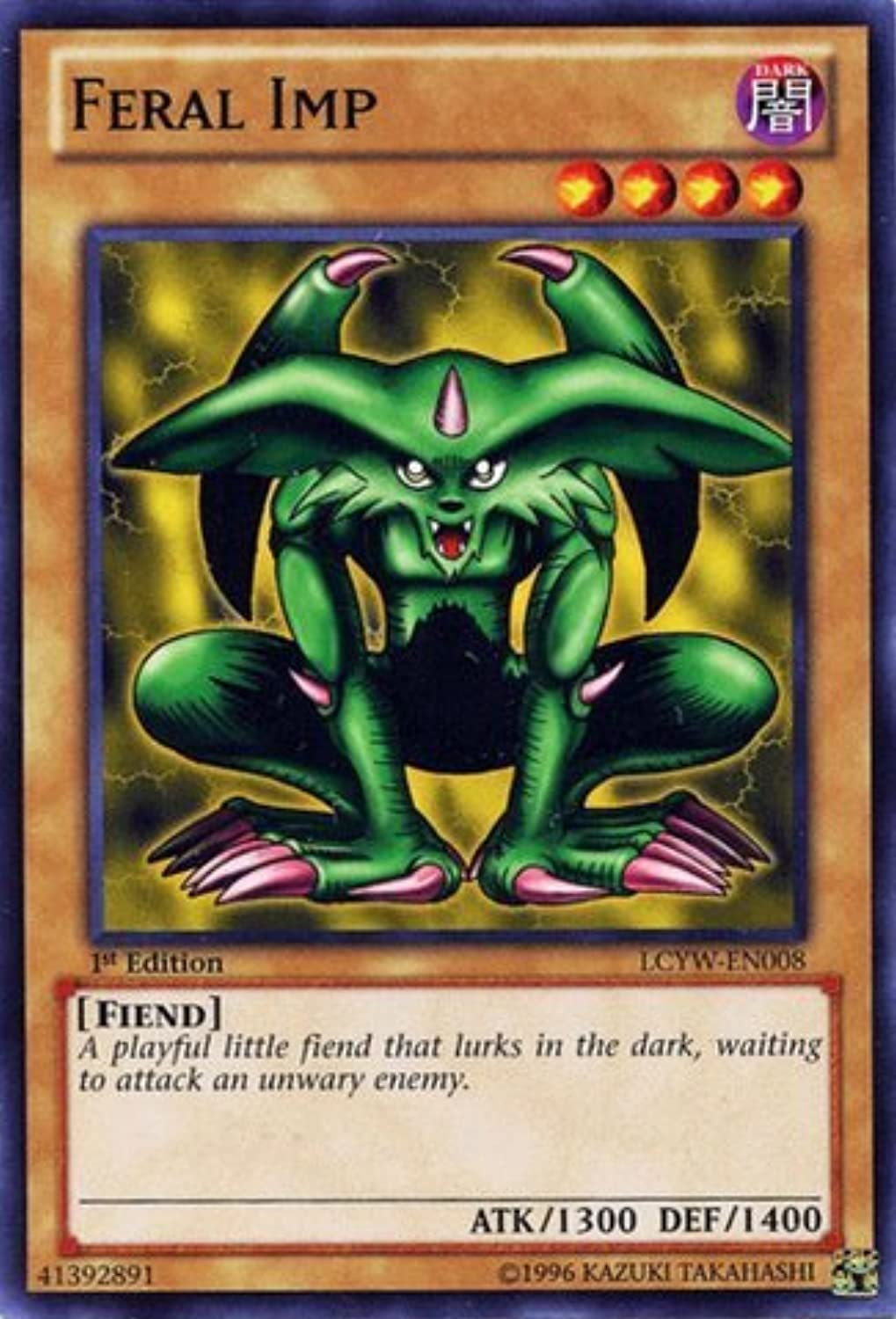 YuGiOh   Feral Imp (LCYWEN008)  Legendary Collection 3  Yugi's World  1st Edition  Common by YuGiOh