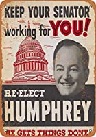 上院議員をあなたのために働かせてください。インチのブリキのサインヴィンテージ鉄の絵の金属板人格ノベルティ