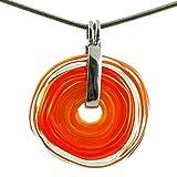 Feine Kette mit Anhänger aus Murano-Glas | Glas-Wechsel-Schmuck | Unikat handmade |...
