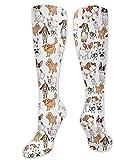 zhouyongz Calcetines deportivos para amantes de los perros, estilo de dibujos animados,...