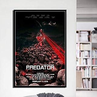ganlanshu Decoración clásica del hogar de la Pared del Cartel de la Lona del Arte de la película de Terror,Pintura sin Marco,50X75cm