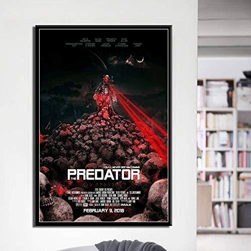 ganlanshu Klassische Horrorfilmkunst Leinwandplakatwand-Hauptdekoration,Rahmenlose Malerei,60X90cm
