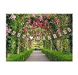 Pour mariage Inscription Just Married Style Vintage en carton pour décoration de mariage