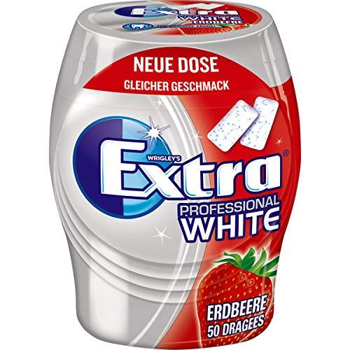 12 Dosen Wrigley's Extra Professional White Strawberry Erdbeer Dragees ohne Zucker a 50 Dragees Kaugummis