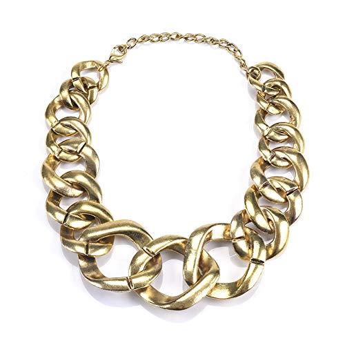 NICEWL Übertriebene Chunky Chain Choker Halskette Für Frauen,Handgefertigte Verstellbare Schnallengliederkette,Hip Hop Punk Statement Choker Schmuck