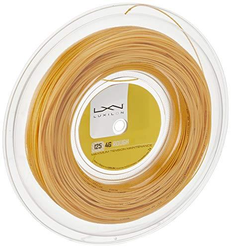 Luxilon WRZ990144 Corda da Tennis 4G Rough, Bobina 200 m, Unisex, Colore Oro, 1.25 mm