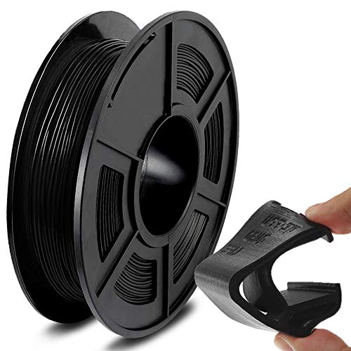 SUNLU TPU Flexible Filament 1.75mm for 3D Printer 500g/Spool Dimensional Accuracy +/-0.03mm, Black