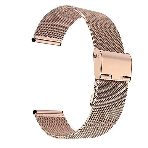 LIANYG Correa De Reloj Strap de Banda de Reloj de 20 mm de 20 mm para Galaxy Watch 2 Band for Gear S3 Strap para Galaxy Watch 42mm 46mm (Band Color : Rose Gold, Band Width : 22mm)