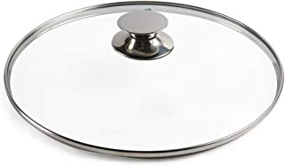 Tapa de Cristal Pan universal cubierta de sustitución Sartenes Wok Reemplazar Pot tapas cubierta transparente templado tapa de vidrio Cazo por la cocina casera Cocina de cocina ( Size : 33CM/13inch )