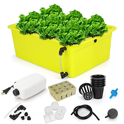 GROWNEER 6 Sites Hydroponics Grower Kit Household DWC Hydroponic System...