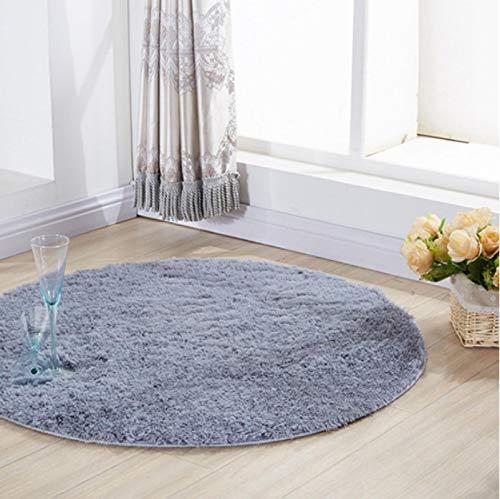 Modern Grey Plush Round Printed Carpet Living Room Bedroom Non-Slip Cushion Sofa Coffee Table Exquisite Crystal Velvet Carpet120*120Cm