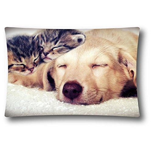 Bestlivings Kissenbezug mit Fotodruck ca. 40x60cm, Flauschig weich, in weiteren Motiven verfügbar (Design: Hund)