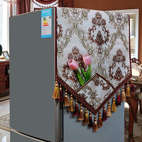 MENUDOWN Kühlschrank Staubschutz,Retro Kühlschrank Staubdichtes Tuch/Antifouling Geeignet für Mikrowellenherd, Ofen, Einzel- / Doppeltürkühlschrank, Waschmaschine,J-60 * 180cm