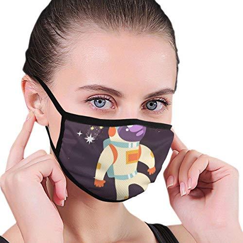Maskers Astronaut in een ruimtelijk pakket, werken in open ruimte, uniseks, mannen vrouwen fietsen, sporten, gezichtsmasker