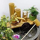 LXLH Decorazione da Giardino Giapponese , Statua Fontana di bambù, Filtro per Acquario, Scultura Decorativa da Giardino all'aperto, Decorazioni per la casa, Artigianato, Giochi d'Acqua in bambù,