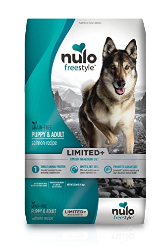 Nulo Puppy & Adult Freestyle Limited Plus Dry Dog Food: All Natural Limited Ingredient Diet for Digestive & Immune Health - Allergy Sensitive Non GMO (Salmon Recipe - 22 lb Bag), Model Number: 51LS22