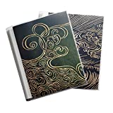 CocoPolka 8x10 Photo Albums Pack of 2 - Each Large Format Flexible Photo Album Holds Up to 60 8x10 Items in White Pockets. Removable Covers Come in Chic Modern Patterns.