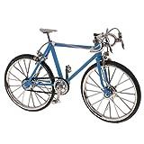 1/10 Scala Modellini di Bicicletta Modello da Corsa Bici Replica Miniature Casa Bambola Decorazione Giocattoli Bambini Regali Lega - Azzurro