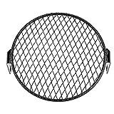 Kit de cubierta de rejilla de protección redonda de faro de motocicleta de 6,5 pulgadas máscara protectora de faro de motocicleta para Cruiser Chopper Cafe Racer(Diagonals)