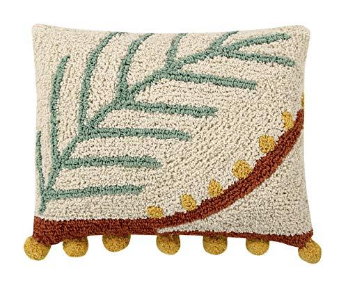 Lorena Canals Palm cojín, algodón, poliéster, Multicolor, 38x 48x 30cm