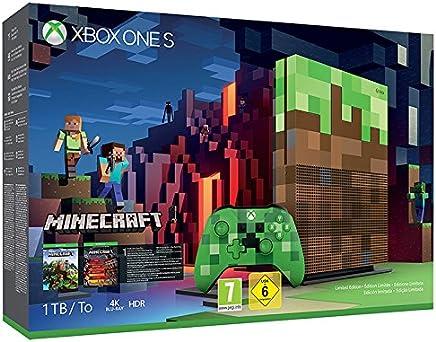 Microsoft Xbox One S Minecraft Limited Edition 1000GB Wifi Multicolor - Videoconsolas (Xbox One S, Multicolor, 8192 MB, DDR3, AMD Jaguar, AMD Radeon)