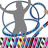 Flames 'N Games Pro Hula Aros (Ultra-Apretón/Rutilar Deco) Viaje ponderado Hula Aros (100cm / 39 ') ¡Hula Aros para Ejercicio, Danza y Ejercicio! (640g) - ¡Despacho el Mismo día! (Azul/Rojo Rutilar)