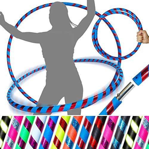 Pro Hula Hoop (UltraGrip/Glitzer) - faltbarer Hula-Hoop für Reisen, Fitness für Erwachsene, für...