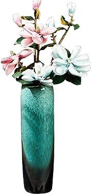 TYLZDZ Vasi Vaso Vaso in Ceramica Verde Alto 60 Cm Stile Semplice Vaso da Fiori Grande dal Pavimento al Soffitto Vaso per La