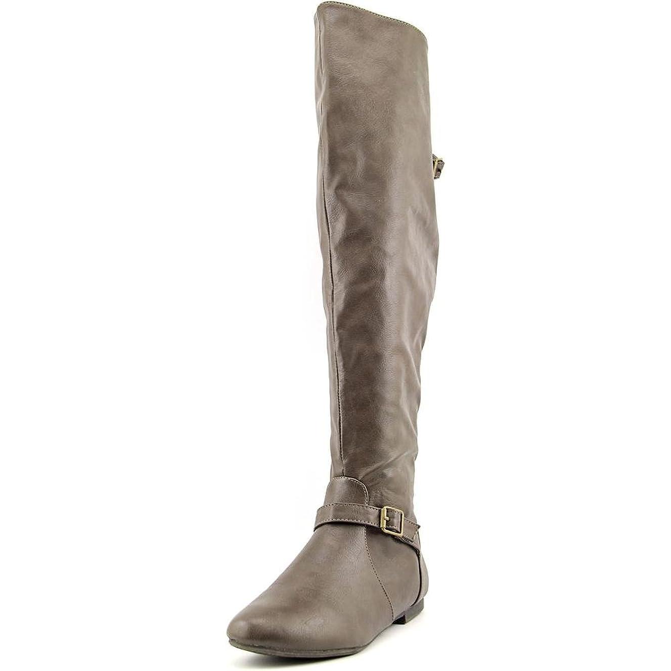 追記破壊部族[Brinley Co] 女性用バックルTall Round Toe Riding Boots