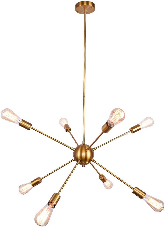OYI Sputnik Kronleuchter Modern Pendelleuchte 8 Flammig Hngelampe E27 Lampenfassung Brass Metall für Esszimmer Zimmer Wohnzimmer Küche Restaurant