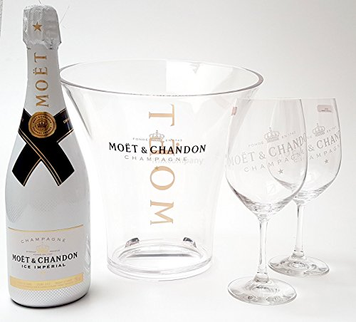 Moet & Chandon Ice Imperial Champagner 75cl (12{7d6409ac708ac3c2618b8832209b0b9bb9e6fee766e44bf96200e5a1d173d7c6} Vol) + Flaschenkühler + 2x Gläser