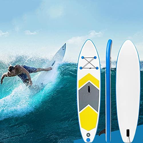 XRDSHY Padel Surf Hinchable Adulto Tabla Surf 150kg Estable Y Duradero Tabla Paddle Surf Portátil Paddle Surf Antideslizante Tabla Paddle Surf Hinchable con Bomba De Mano, Bolsa, Paleta Ajustable