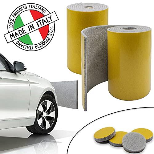 SLIMLEY Paracolpi garage 2 Lastre lunghe 2 m ciascuna spesse (5mm) per una maggiore protezione dell'auto, 4 gommini multiuso inclusi, Fasce di protezione autoadesive per portiere e paraurti auto …