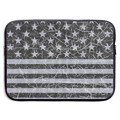 Gao808yuniqi Retro Distressed USA Flag Patriotic Laptop Sleeve Shoulder Bag for Women, Protective Carrying Case Compatible with 13-15 Inch MacBook Pro, Air, Notebook,Slim Sleeve