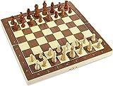 ajedrez damas backgammon tablero de ajedrez Conjunto de ajedrez de madera magnético Conjuntos de juego de plegado portátil con conjunto de piezas de ajedrez de piezas de ajedrez hecho a mano para adul