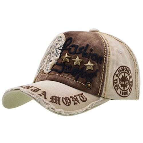 iParaAiluRy Baumwolle Baseball Cap, Basecap Unisex Baseball Kappen, Baseball Mützen für Draussen, Sport oder auf Reisen - Letter Patch Nieten Lässig Kappe, Mütze